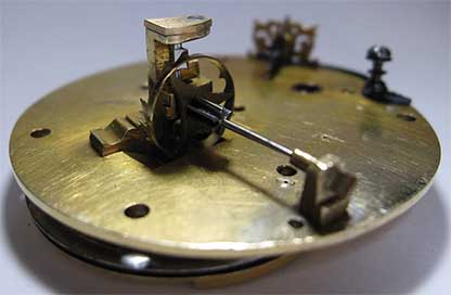 Mechanism with a verge escapement