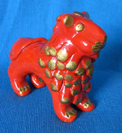 Folk art, Abashevo toy, Lion