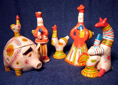 Folk art, Filimonovo toy, Plastik