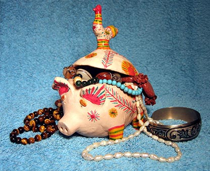 Folk art, Filimonovo toy, Composition piggy