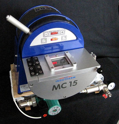 Induction casting machine MC15, overall view